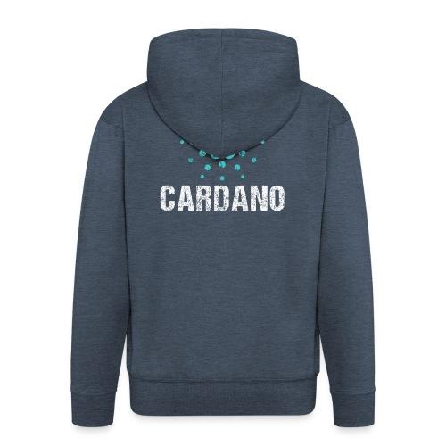 Cardano Ada Logo Cryptos Vintage - Männer Premium Kapuzenjacke