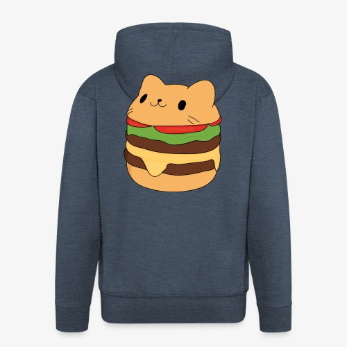 cat burger - Men's Premium Hooded Jacket