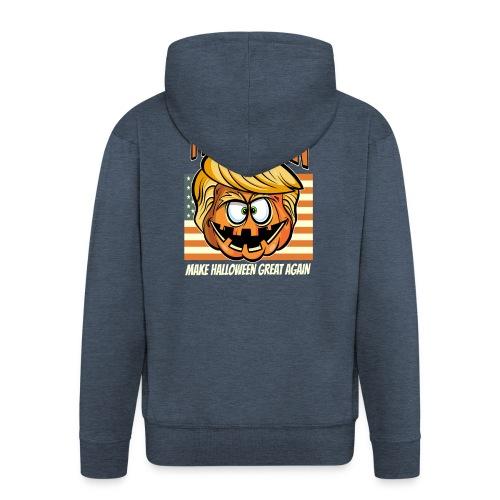Trumpkin Donald Trump Halloween - Männer Premium Kapuzenjacke