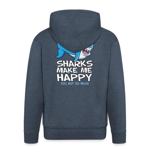 Sharks make me happy - Haifisch - Männer Premium Kapuzenjacke