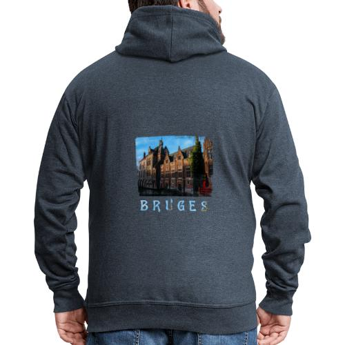 Bruges | Old houses - Mannenjack Premium met capuchon
