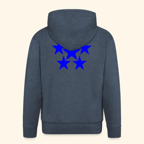 5 STAR blau - Männer Premium Kapuzenjacke