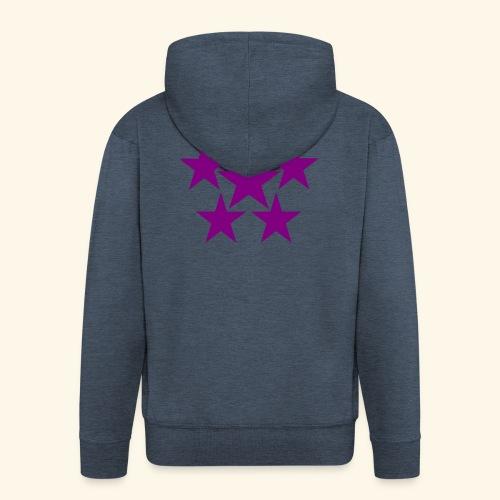 5 STAR lilla - Männer Premium Kapuzenjacke
