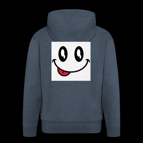 augen-smiley-zunge-t-shirts-maenner-premium-t-shir - Männer Premium Kapuzenjacke