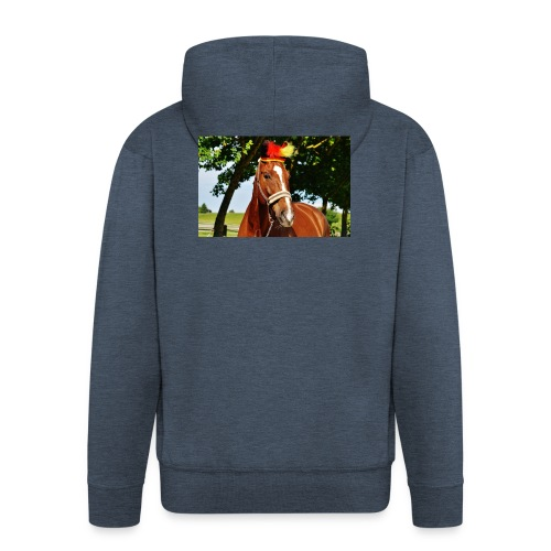 T-Shirt Pferd-Mit Hud - Männer Premium Kapuzenjacke
