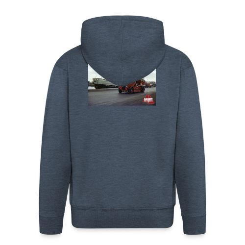 Fire Truck at Galway Docks 1970 - Men's Premium Hooded Jacket