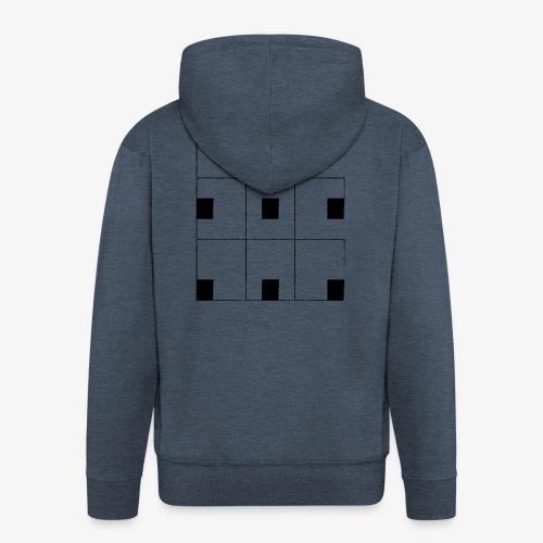 Chessboard - Felpa con zip Premium da uomo