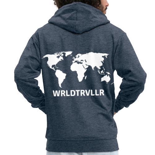 Worldtraveller - Männer Premium Kapuzenjacke
