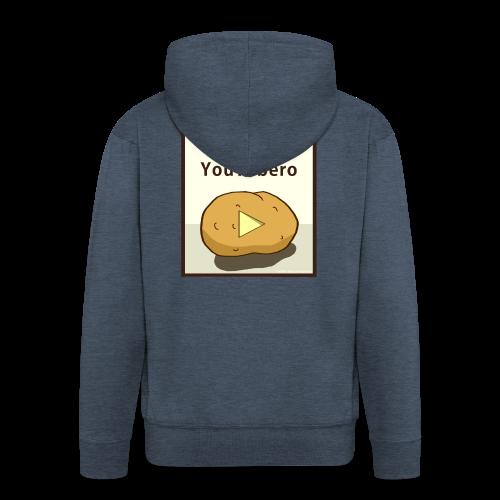 100-_youtubero - Felpa con zip Premium da uomo