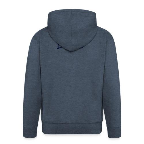 BLUE - Mannenjack Premium met capuchon