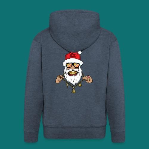 Dope Santa - Felpa con zip Premium da uomo