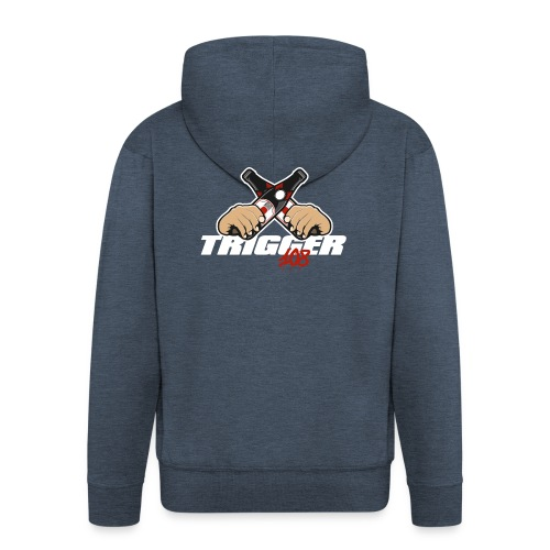 Trigger Weiß großes Logo - Männer Premium Kapuzenjacke