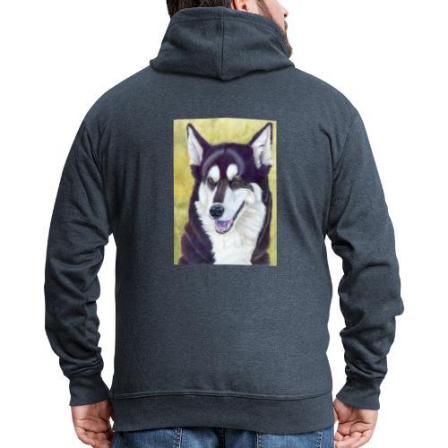 Siberian husky - Herre premium hættejakke