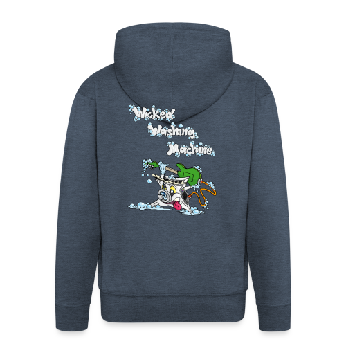 Wicked Washing Machine Cartoon and Logo - Mannenjack Premium met capuchon