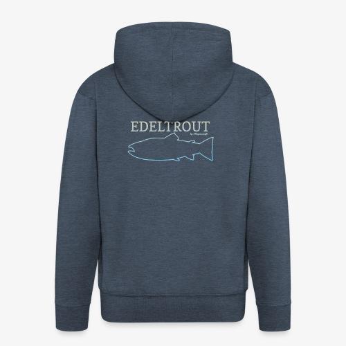 EDELTROUTGreyblue - Männer Premium Kapuzenjacke
