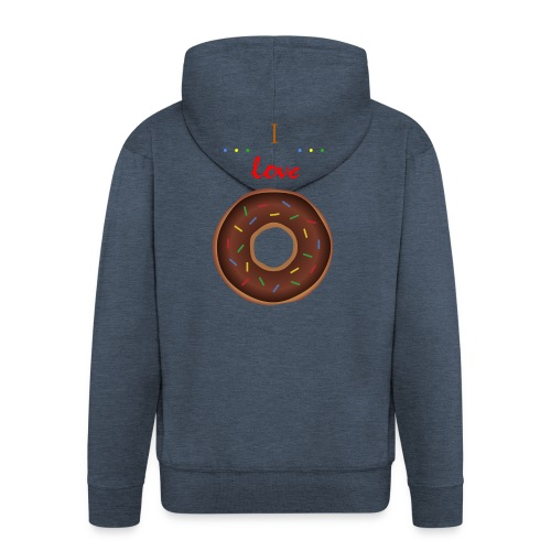 I love donuts! | T-shirt | Tiener / Man - Mannenjack Premium met capuchon