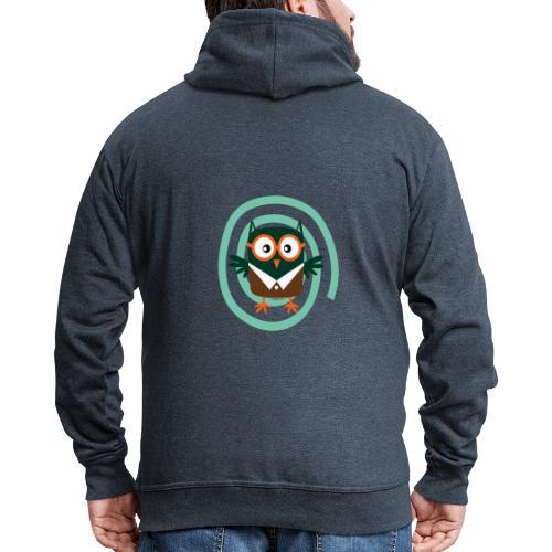 FP10-54 SCHOOL OWL - TEXTILE AND GIFT PRODUCTS - Miesten premium vetoketjullinen huppari