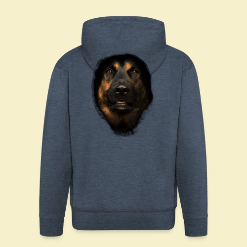 Schäferhund Portrait - Männer Premium Kapuzenjacke