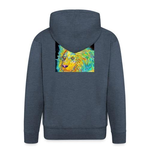 Tahlie 23 lion logo - Men's Premium Hooded Jacket