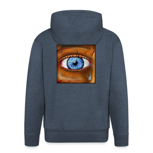 Hyperspace Potato Eye - Men's Premium Hooded Jacket