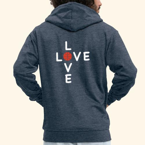 LOVE Cross basketball red 001 - Männer Premium Kapuzenjacke