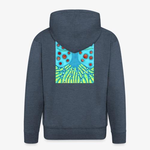 Drzewo I Planety - Rozpinana bluza męska z kapturem Premium