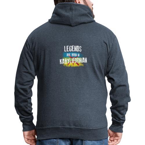 Legends are born in kabylifornian - Veste à capuche Premium Homme