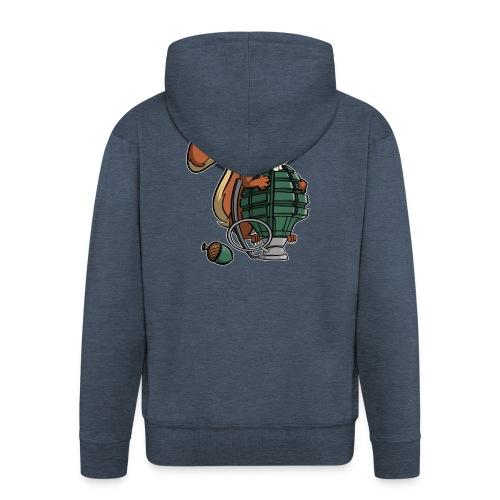 Eichhörnchen Granate - Männer Premium Kapuzenjacke