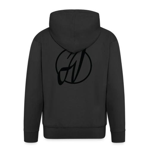 JV Guitars - logo noir - Veste à capuche Premium Homme