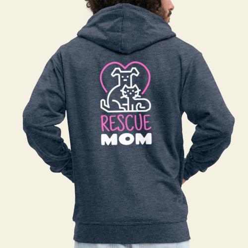 Rescue Mom - Miesten premium vetoketjullinen huppari