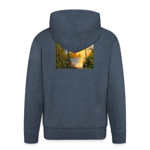 Temple of light - Men's Premium Hooded Jacket