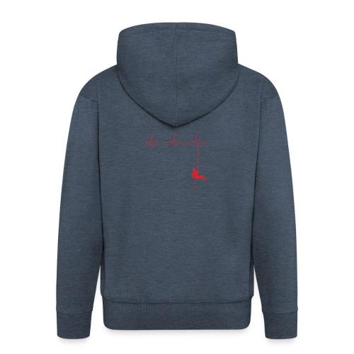Love Rappelling ECG - Men's Premium Hooded Jacket