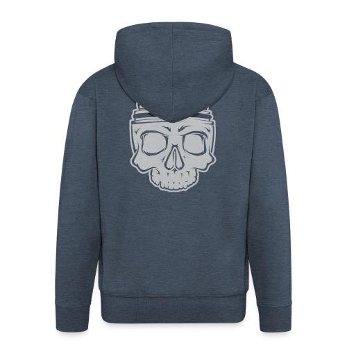 VAPE SKULL - Rozpinana bluza męska z kapturem Premium