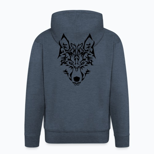 Tribal Wolf - Veste à capuche Premium Homme