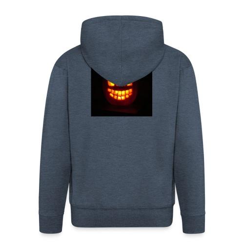 halloween jack - Felpa con zip Premium da uomo