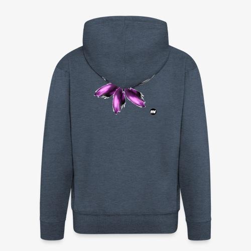 Sembran petali ma è l'aurora boreale - Felpa con zip Premium da uomo