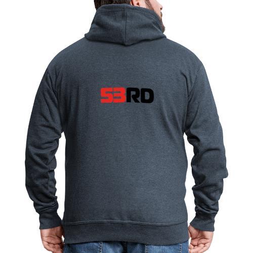 53RD Logo lang (schwarz-rot) - Männer Premium Kapuzenjacke