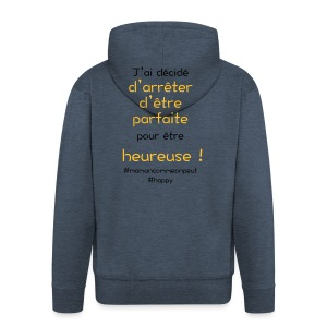 t-shirt_happy_orange - Veste à capuche Premium Homme