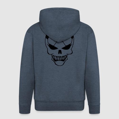 Fußball-Totenkopf - Männer Premium Kapuzenjacke