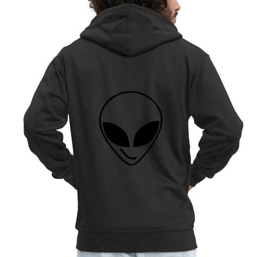 Alien simple Mask - Men's Premium Hooded Jacket