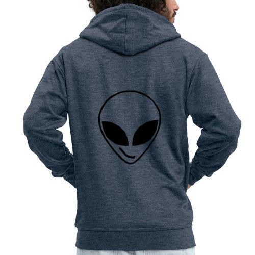 Alien simple Mask - Men's Premium Hooded Jacket