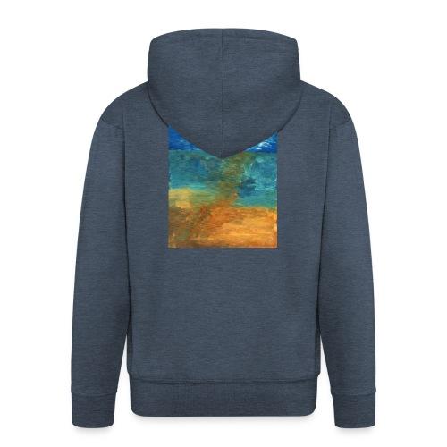 It Was a Sea - Rozpinana bluza męska z kapturem Premium