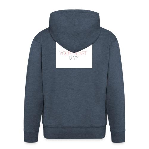 heart - Rozpinana bluza męska z kapturem Premium