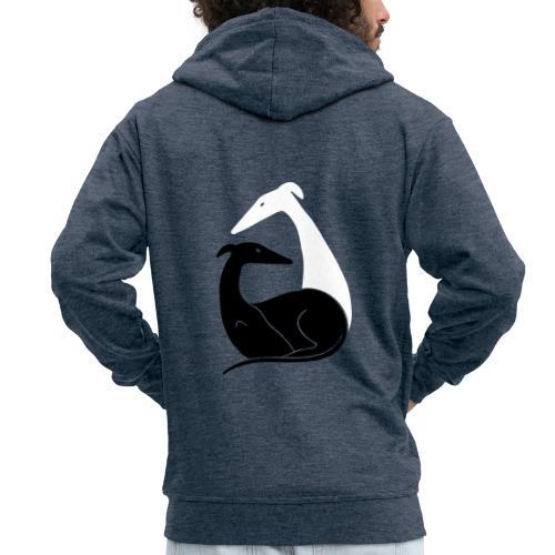 Windhundpaar - Männer Premium Kapuzenjacke