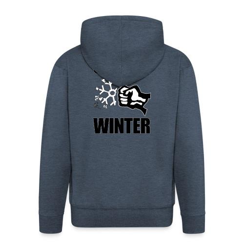 Gegen Winter - Männer Premium Kapuzenjacke