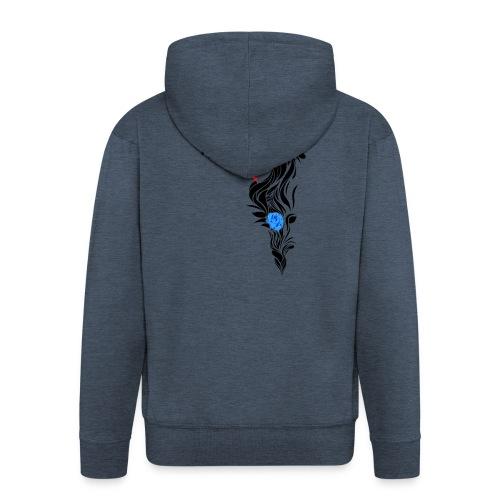 Blue Flowers - Chaqueta con capucha premium hombre