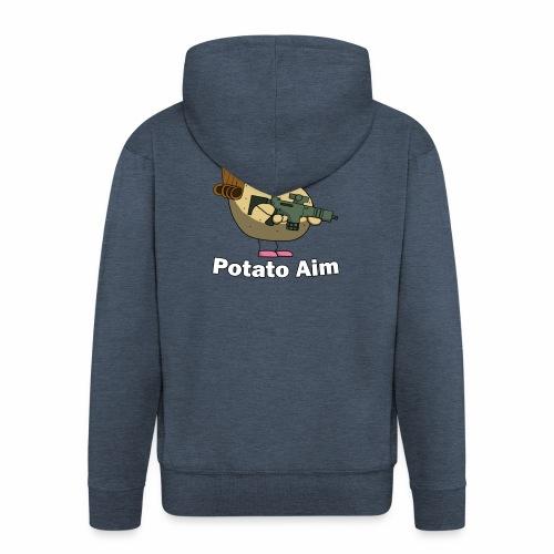 Mrs Potato Aim - Men's Premium Hooded Jacket