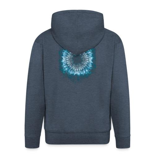 Indigo Blau Mandala - Männer Premium Kapuzenjacke