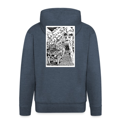 Sea Monsters T-Shirt by Backhouse - Men's Premium Hooded Jacket