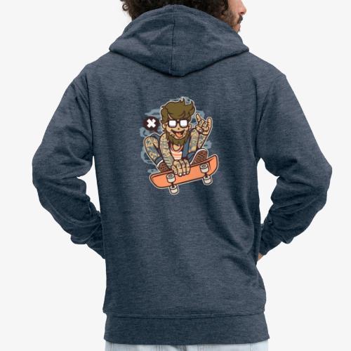 Skater barbu - Veste à capuche Premium Homme